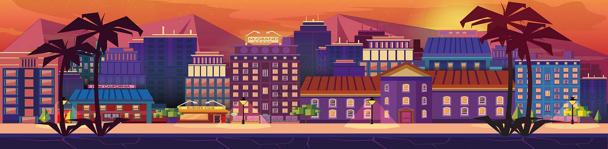 旅游城市建筑banner图片