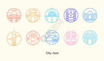 城市icon矢量图标图片