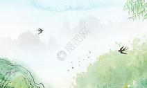 清明节燕子画图片