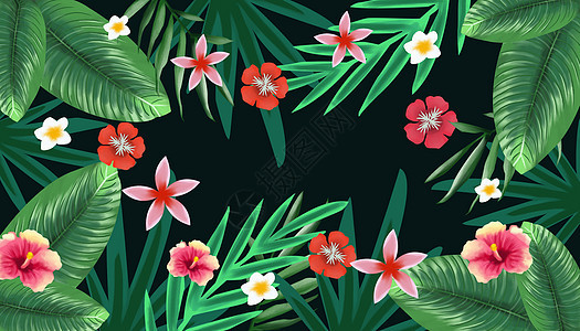 清新花卉背景图片