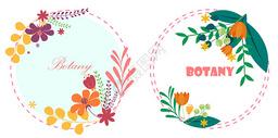 植物花环背景图片