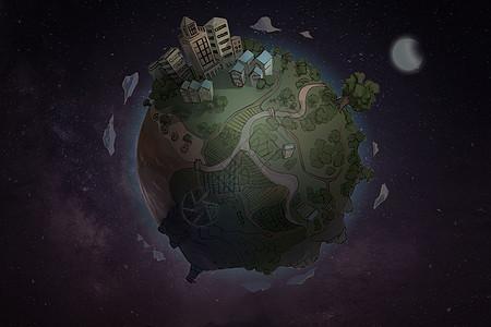 地球一小时图片