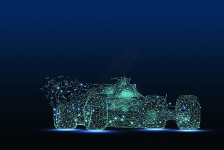 线条科技赛车图片