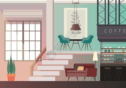 咖啡店室内家具图片