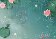 手绘睡莲背景图片
