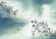 古风唯美花卉背景图片