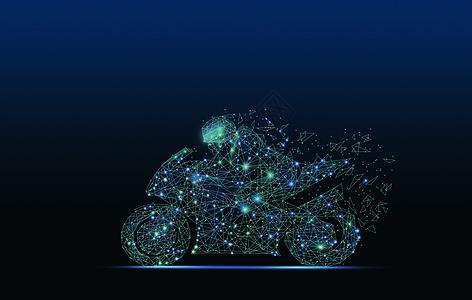 线条科技摩托赛车图片
