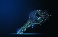 线条科技钥匙图片