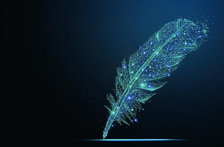 创意线条羽毛笔图片