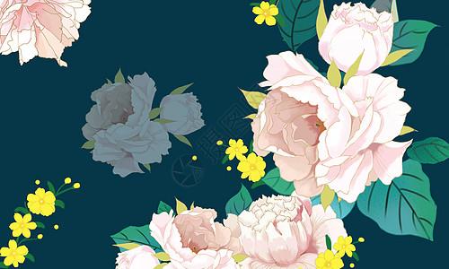 唯美花卉背景素材图片
