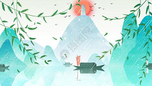 简约中国风插画图片