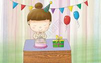 生日许愿图片