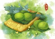 清明节,吃青团图片
