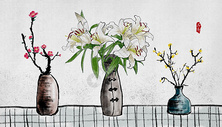 中国风花卉水墨画图片
