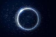 漂浮的星空粒子图片