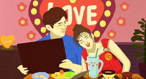 浪漫满屋可爱情侣图片