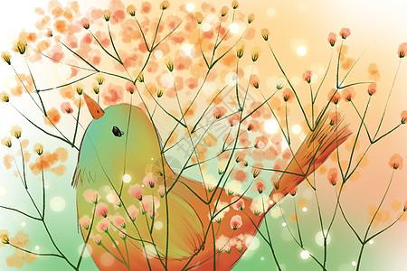 繁花里的小鸟图片
