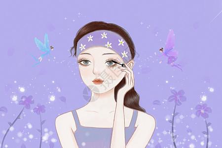 化妆美妆女孩图片