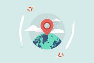 旅行扁平化矢量插画图片