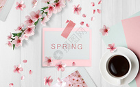 春季粉色清新背景图片