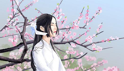 樱花少女图片