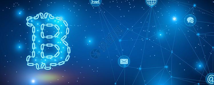 比特币科技背景图片