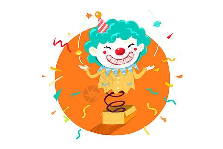 愚人节搞怪小丑礼盒图片