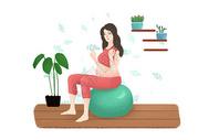 孕妇瑜伽运动图片