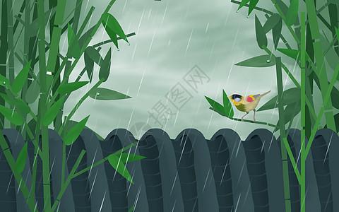 清明雨水图片