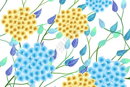 唯美素雅绣球花背景图片