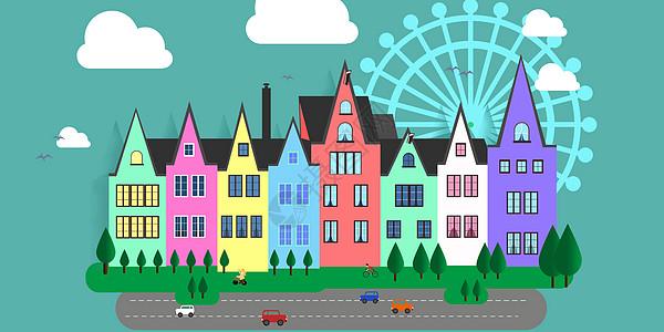矢量城市建筑图片