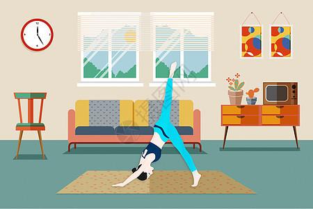 瑜伽健康运动图片
