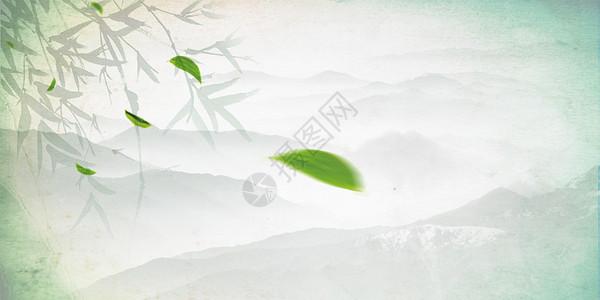 茶叶云雾背景图片