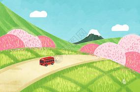 春日原野-踏青图片