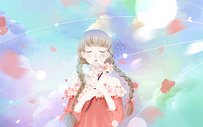 梦幻樱花少女图片