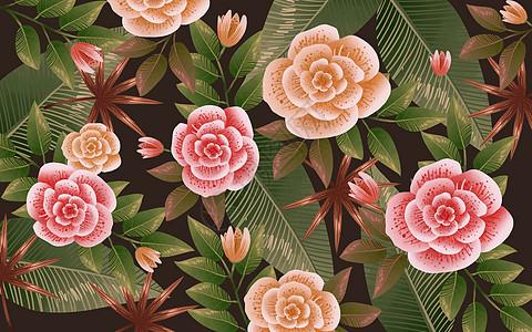 唯美大花花卉背景图片
