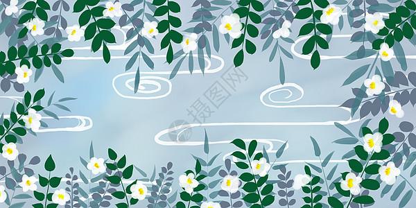 淡雅植物背景图片
