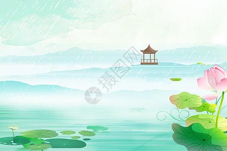春色湖泊背景图片