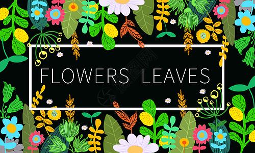 绿叶花卉图片