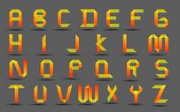 矢量折纸风格字母图片
