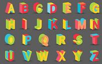 矢量积木字母图片