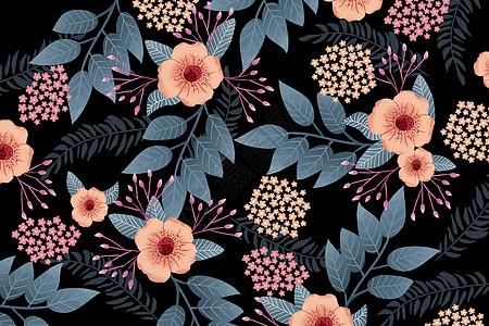 花卉树叶元素背景图片