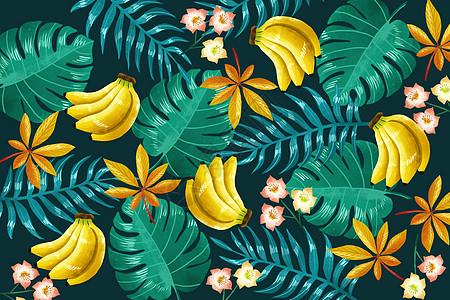 香蕉植被背景图片