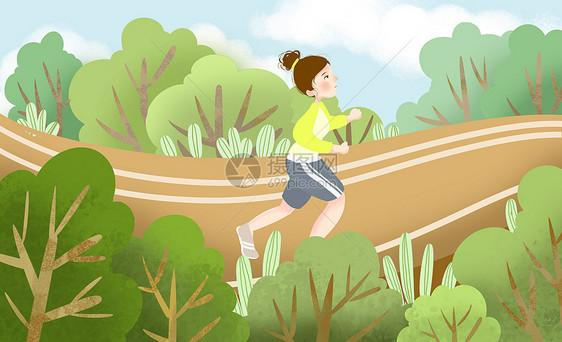 跑步锻炼运动健身图片