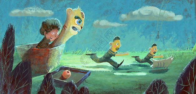 愚人节卡通插画图片