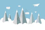 穿越高山的纸飞机图片