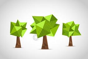 矢量低多边形树图片