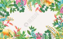 小清新水彩花朵背景图片