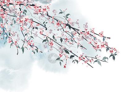 水墨花卉背景图片