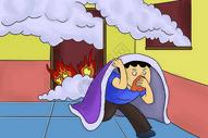 防火灾漫画图片